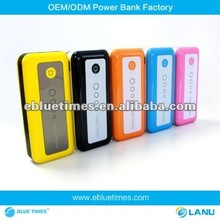 2012 New Power Bank Manufacturers,Colorful and Small design Hot gift Universal Portable Power Bank for iphone5