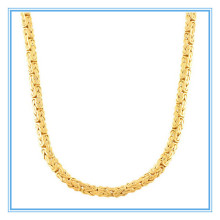 Yiwu Aceon Diamond Stainless Steel Fremada 14k Yellow Gold 4-mm Flat Byzantine Necklace