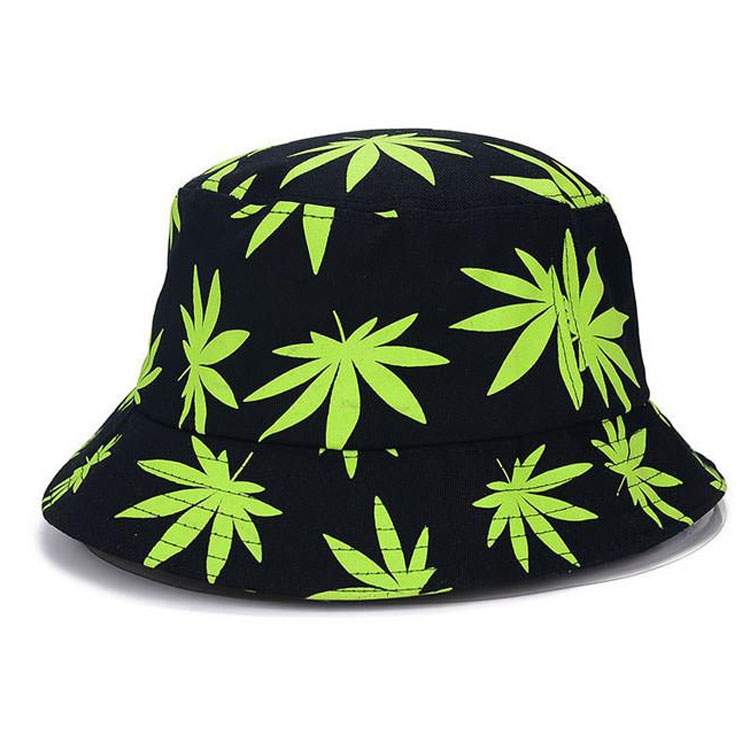 Cheap 100% cotton printed breathable sun hat custom printed floral weed bucket hat