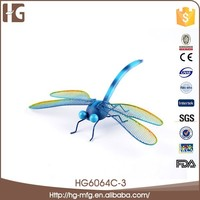Garden art dragonfly shape metal crafts