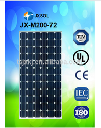 200w monocrystalline PV sola panel with lower price
