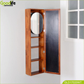 Bathroom furniture teak wood wall mounted bath cabinet from China guang