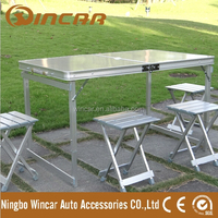 Outdoor aluminum Portable Folding Outdoor Camp Suitcase Picnic Table with 4 Seats