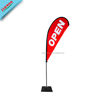 Auto 4S Shop 100D Polyester Custom Size Outdoor Teardrop Banner