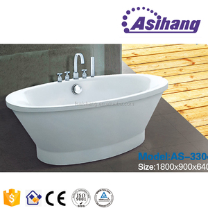 Foshan factory white quartz sitting tin bath tub