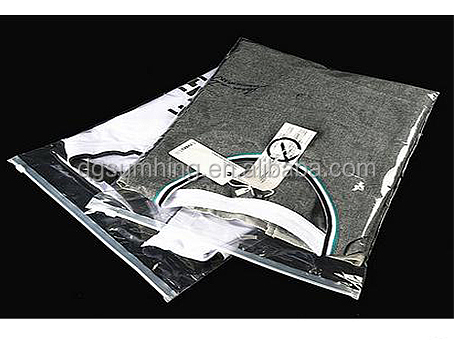 PE zipper lock bags plastic packaging with Clear high quality for clothes packing plastic bags China supplier