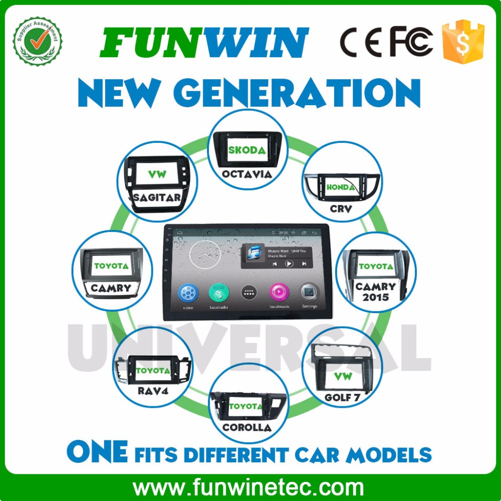 Funwin Hot Sale Support 3G/Wifi/Audio/Video Double Din Digital Touch Screen Car Stereo For Universal