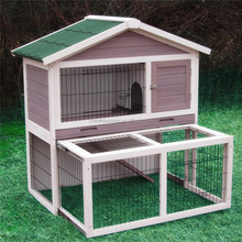 open roof big Wooden Rabbit Hutch Pigeon Cage With Wire Mesh pine wood guinea pig squirrel cage China FSC Certificate