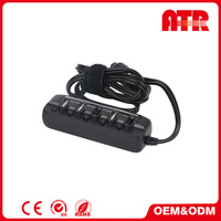 Efficient logistic service phone 8A USB * 5 ports black car charger