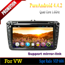 ROM 16GB Quad-core Android 4.4 High quality touch screen car dvd for VW Jetta 2006 2007 2008 2009 2010 2011 2012