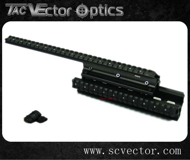 Vector Optics Tactical Saiga Picatinny Quad Rail Handguard Mount System See Through Style