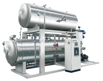 ASME certificated canned meat production line horizontal autoclave