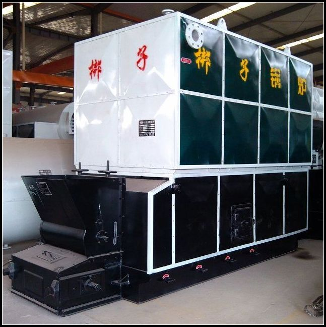 Horizontal biomass pellets thermal fluid heater