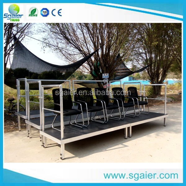 aluminum mobile grandstand ,retractable bleacher seating for TV Show