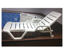 Outdoor Furniture White Folding Plastic Pool Lounge Chair