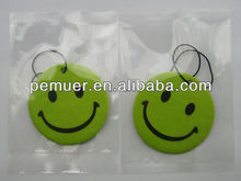 Custom smile face best auto air freshener for promotion and gift with low price