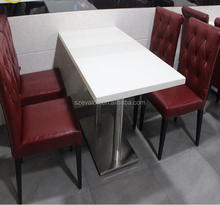 Good Price Modern White Artificial Marble Table Top,coffee shop tables and chairs, Restaurant dining table