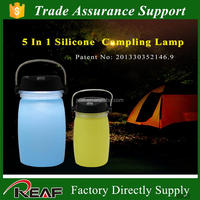 With solar lantern power bank function silicone bottle band