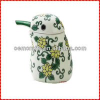 2013 blue pepper bottle kichen set ceramic cruet