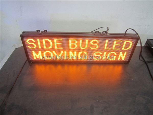 Aliexpress china outdoor WIFI full color board set led bus destination sign