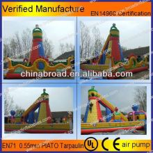Durable climbing,inflatable wall, 2012 new sports inflatable games with safety belt