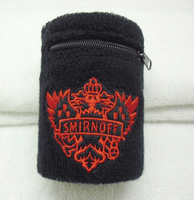 2015 Promotional Sport Sweatbands With Zipper Pocket
