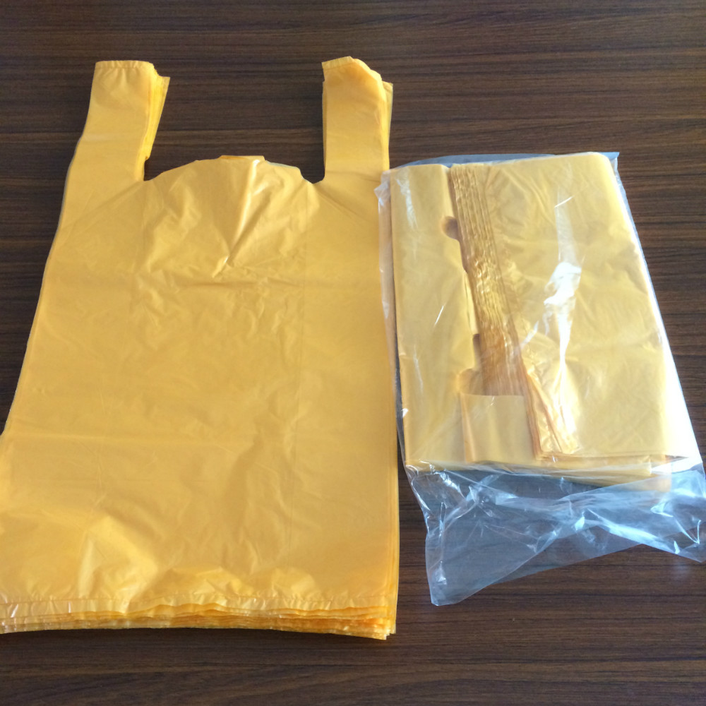 Clear plastic t shirt thank you bags carrier bag for Clear shirt packaging bags