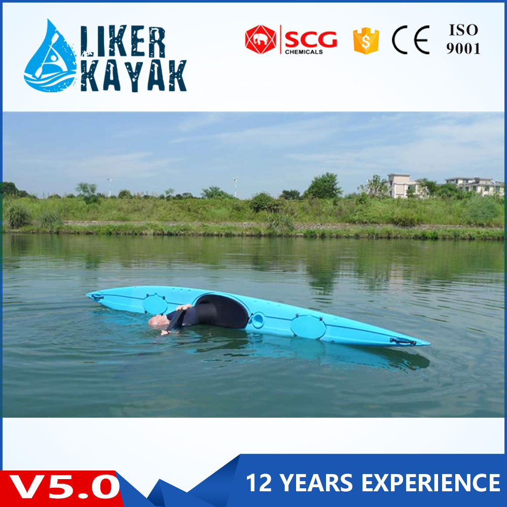 Top quality single seat pe kayak plastic