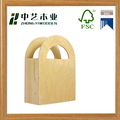 Wholesales handmade unfinished plain plywood wooden gift bag