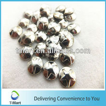 Low Lead Prong metal clothing studs with hot fix glue backing