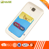 Hot sale logo silk printed silicone cell phone case card holder