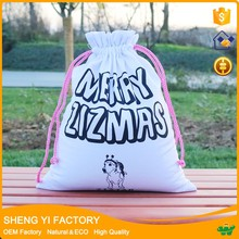 Wholesale cotton cute small bags drawstring bag for gifts use