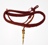 Red Silk with Gold Tags for Army Air Force Navy Marching Band Aiguillette