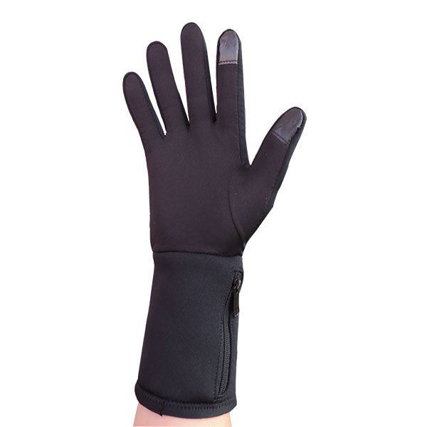 7.4V rechargeable battery heated gloves liner for cycling man wear