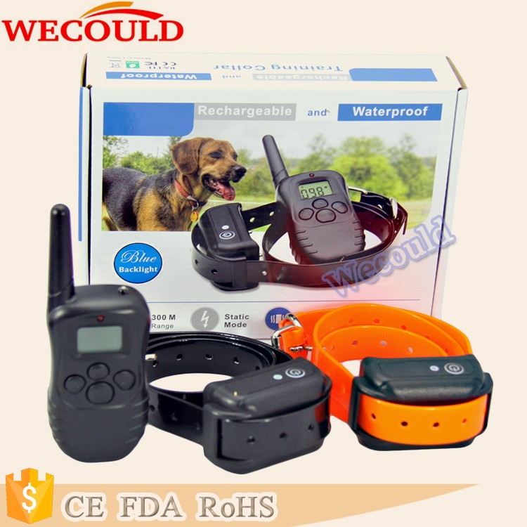 WECOULD Hot Sell Safe Training Collar 300 Meters Remote Dog Training Collar