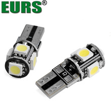 Factory sale car auto led wide-band lamp T10 5050 5SMD 12V 2.28W 8000K