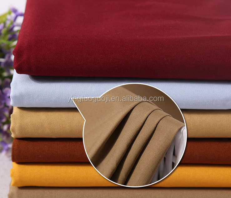 Complete process dying cotton spandex twill fabric for trousers