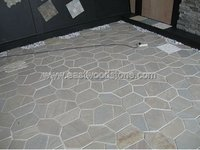 Chinese natural slate crazy paving on mesh