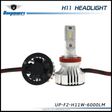 New product 36W F2 H11 car led headlight 6000LM small body single beam with fan
