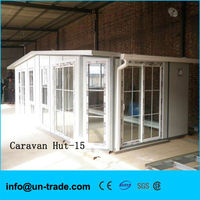 bright caravan hut expand space of the house