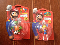 2014 New Arrival Nintendo Super Mario Keychain Figure with football/ Nintendo Super Mario Keychain Figure with football