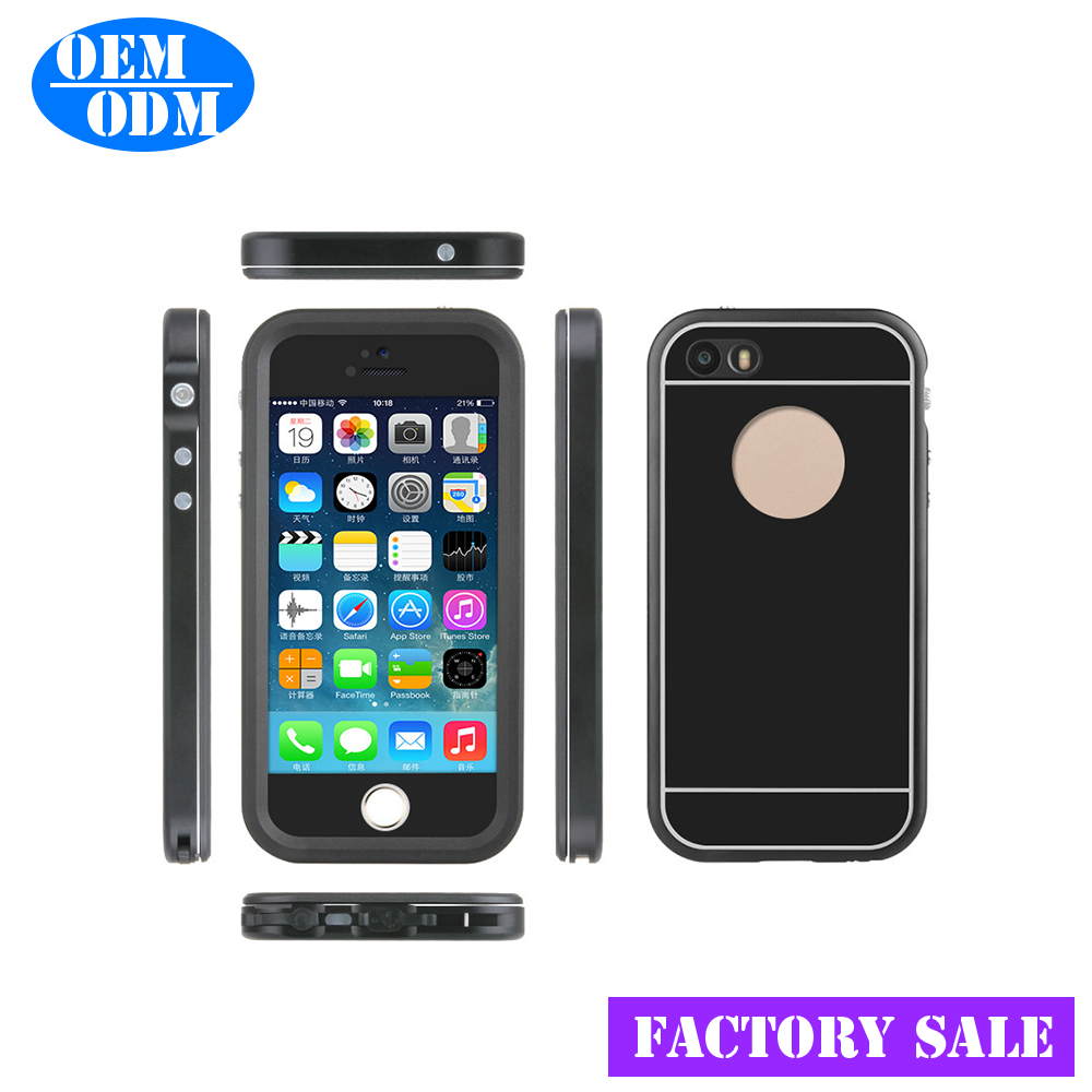 Light Weight Ultra-thin Factory Sale Alumiunm Waterproof Case for iPhone 5S