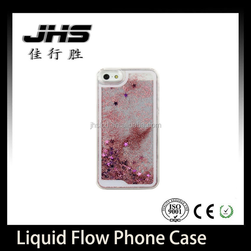 Most Selling Quicksand Fluid liquid Flowing Stylish Deluxe Dynamic 3D Moving Stars Protective Phone Case For IPhone 5 / 5s