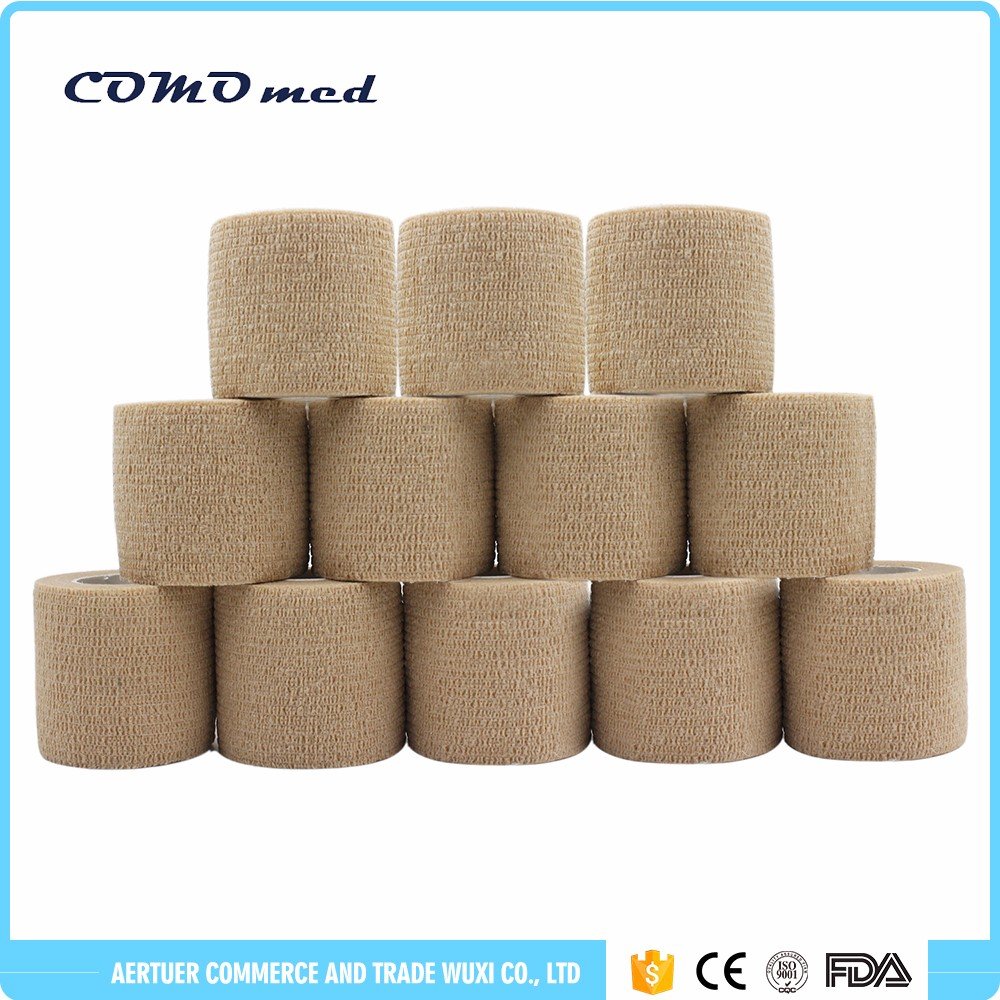 non woven cohesive elastic bandage adherent
