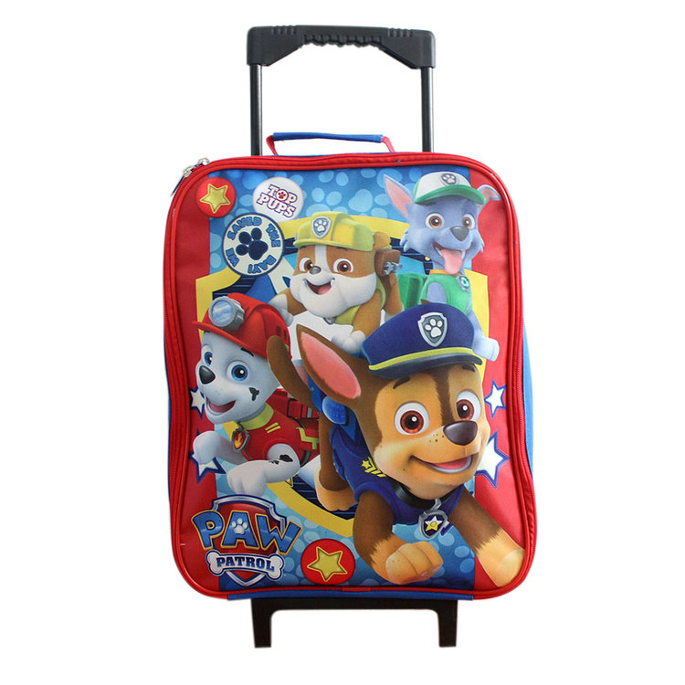 popular 600D Polyester beautiful trolley school bags for girls
