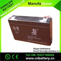 best china supplier sealed lead acid rechargeable deep cycle 6v7ah battery for electric toy car
