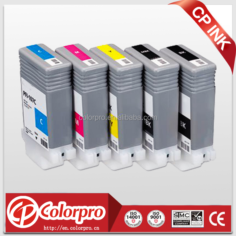 Compatible Ink Cartridge Replacement for CANON PFI-107 (130ml, 5-pack) - imagePROGRAF iPF670, iPF680, iPF685, iPF770, iPF780