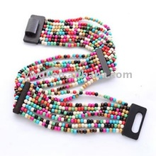 Women's Dress Belt with Colourful Beads