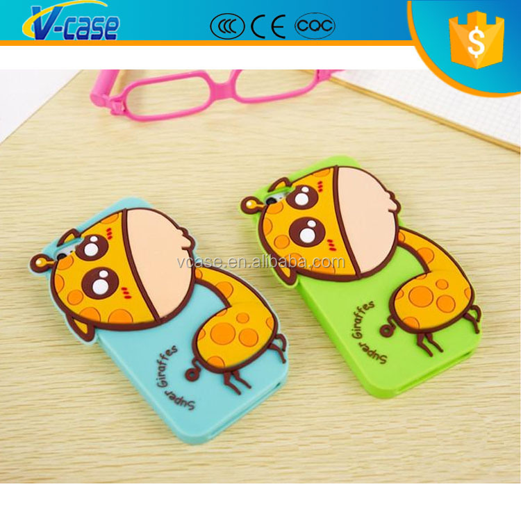 4 Color lovely special animal silicone phone case for iPhone 5 5s
