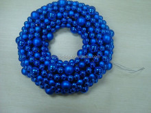 Blue Christmas Tinsel Wreath Christmas Hall Decoration